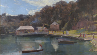 Tom Roberts' Mosman's Bay, 1894. Oil on canvas.