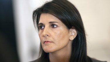 US ambassador to the UN Nikki Haley.
