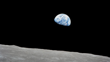 The crew of Apollo 8 captured this view of Earth in December 1968, which helped galvanise public awareness of the planet's fragile ecology.