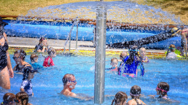 People flocked to North Melbourne pool to escape the heat.