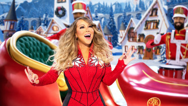 Mariah Carey performing during her holiday special Mariah Carey's Magical Christmas Special. It's available to watch from Friday on Apple TV+.