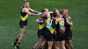Richmond players celebrate.