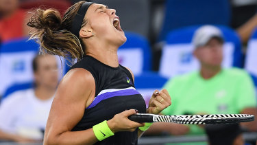 Defending champion Aryna Sabalenka disposes of Ash Barty to advance to the final of the Wuhan Open.