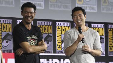 Destin Daniel Cretton and Simu Liu of Shang-Chi.