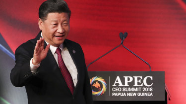 Xi Jinping arrives in Port Moresby for the APEC summit.