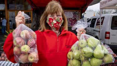 Heather Pollard at the Bendigo farmers market.