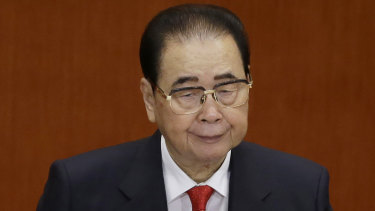 Former Chinese premier Li Peng.