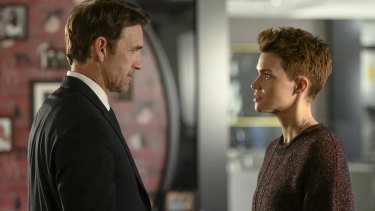 Father and daughter ... Kate Kane (Ruby Rose) with her father Jacob Kane (Dougray Scott).