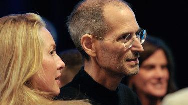 Laurene Powell Jobs with her late husband Steve Jobs in 2011.