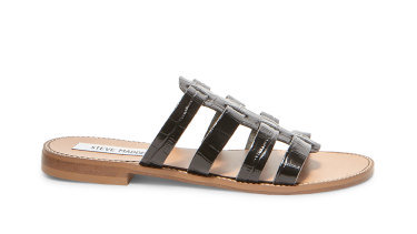 Steve Madden rayen black croco sandal, $89