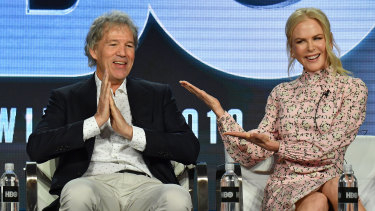 Nicole Kidman with screenwriter David E. Kelley on the promotional trail for The Undoing.
