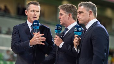 McArdle, left, fronted Fox Sports' rugby programming for 13 years.