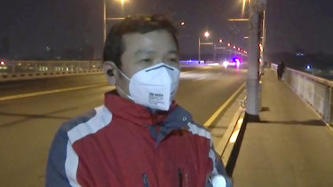 Wuhan resident Tong Zhengkun, on Wednesday - the day the city of 11 million people finished its coronavirus lock down.