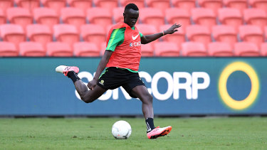 Called up: Thomas Deng has been added to the Socceroos side.
