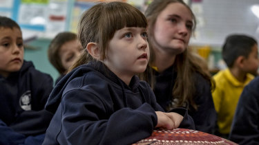 Students at Boronia West Primary school have been learning Woiwurrung