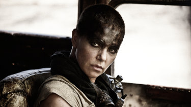 Difficult movie to get to the screen: Charlize Theron in Mad Max: Fury Road.