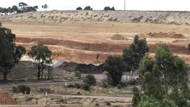 Maddingley Brown Coal in Bacchus Marsh is one of two landfill sites approved to take most of the soil from the West Gate Tunnel.