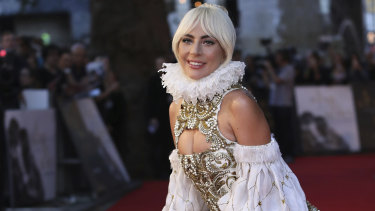 Lady Gaga at the London premiere of A Star Is Born on September 27.