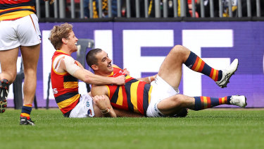 Rory Sloane (left) and Taylor Walker.