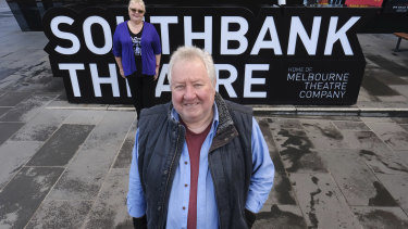 Topugh times: Veteran actor John Wood and president of the Victorian Actors' Benevolent Trust Sally-Anne Upton.