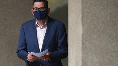 Premier Daniel Andrews said people in regional Victoria were choosing to wear masks even though it is not mandatory.