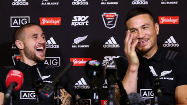 TJ Perenara and Sonny Bill Williams during their time together with the All Blacks in 2018.