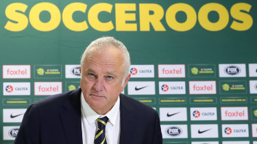 Socceroos coach Graham Arnold will have to cool his jets for at least another few months.