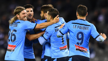 Sydney FC were eight points ahead on the ladder before the season was interrupted.