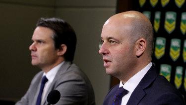 Making change: NRL COO Nick Weeks and CEO Todd Greenberg.