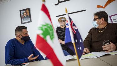 Robert Bekhazi, Amal Radi and Labib Faddoul from the United Australian Lebanese Movement.