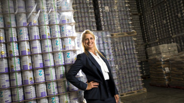 Bubs Australia boss and founder Kristy Carr says the company is doubling production of infant formula in response to a jump in demand spurred by the coronavirus.
