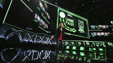 Ashley Speicher, Head of Engineering of Xbox Game Pass, speaks about the service at E3.
