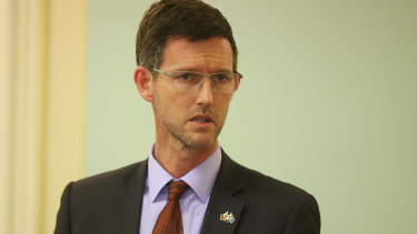 Queensland TRansport and Main Roads Minister Mark Bailey.