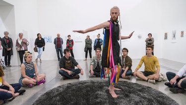 A performance piece from Melbourne Now 2013.