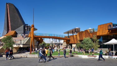 Perth's Yagan Square opened to much fanfare.