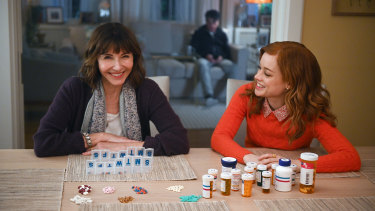 Mary Steenburgen as Maggie and Jane Levy as Zoey in Zoey's Extraordinary Playlist.