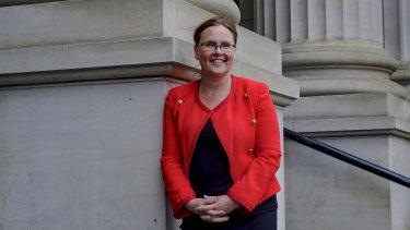 Jane Garrett outside State Parliament on Tuesday.