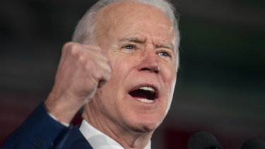 Former vice-president Joe Biden's campaign was faltering just days ago but now he is surging in crucial states.