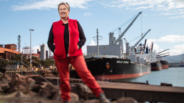 Thirty years at the steelworks before becoming a filmmaker: Robynne Murphy at Port Kembla.