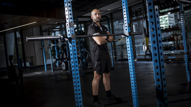 Joey Ali, a personal trainer based at GoodLife Health Club in Docklands. Fitness fanatics could be back in the gym soon when coronavirus restrictions are lifted.