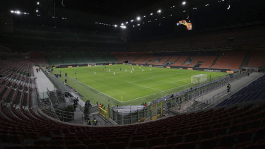 Serie A clubs are said to be unhappy with playing behind closed doors.