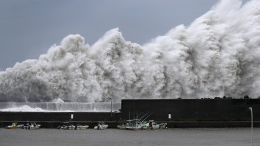 Powerful Typhoon Jebi is forecast to bring heavy rain and high winds to much of the country.