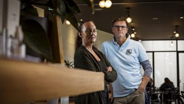 Arcobar owner Brooke Pollock and partner Franz Madlener.