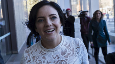 Emma Husar arrives at the Federal Court on  Friday.