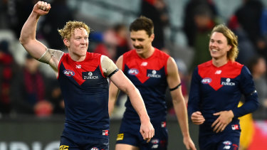 Clayton Oliver is one of the favourites for this year's Brownlow Medal.