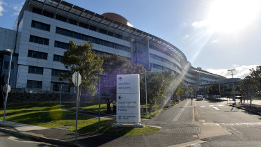 Queensland Health says technicians are working to fix the rust problem at the Princess Alexandra Hospital.