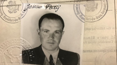 This 1949 photo provided by the U.S. Department of Justice shows a U.S. visa photo of Jakiw Palij, a former Nazi concentration camp guard.