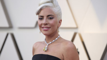 Singer Lady Gaga at the 2019 Oscars.