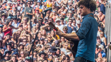"""Falls Festival organisers have announced this year's event will be fully """"home grown"""". Vance Joy playing Falls Festival 2014."""