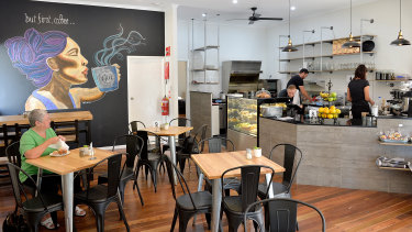 The suburb is home to well-liked cafes such as Cafe Gia, down the road from Mr Dobinson's home.